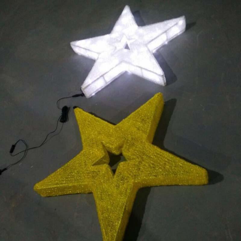 Ozdoby świąteczne LED Star Ciepłe białe światła LED Gwiazdy