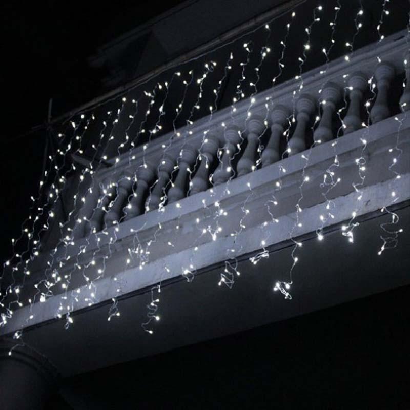 Światła LED Sopel Boże Narodzenie Sopel Lights Outdoor Xmas Lights String Decor
