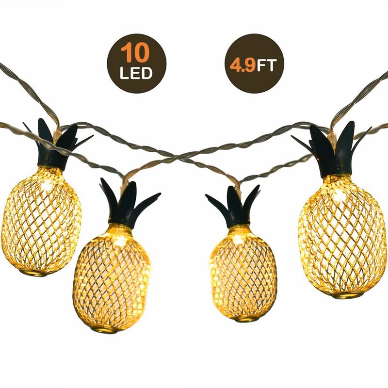 LED 灯 串 10LED Warm White Pineapple String Light