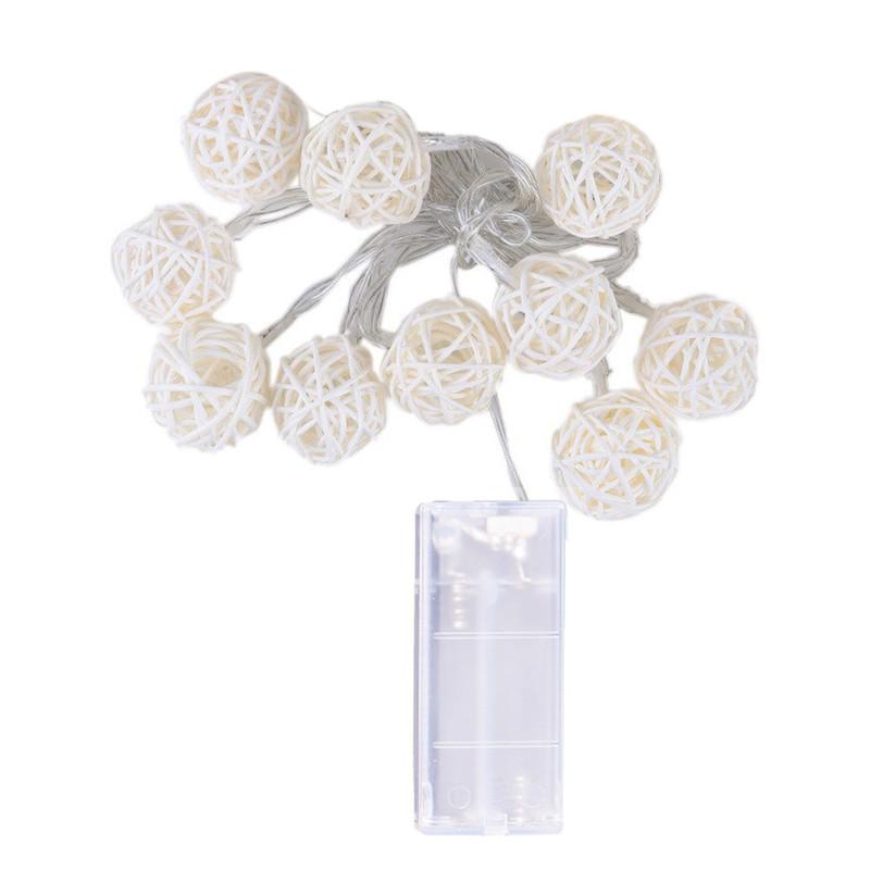 10 LED string lights 1.2M Fairy tale girlanda zasilana na zewnątrz Ciepłe białe na świąteczne dekoracje ślubne