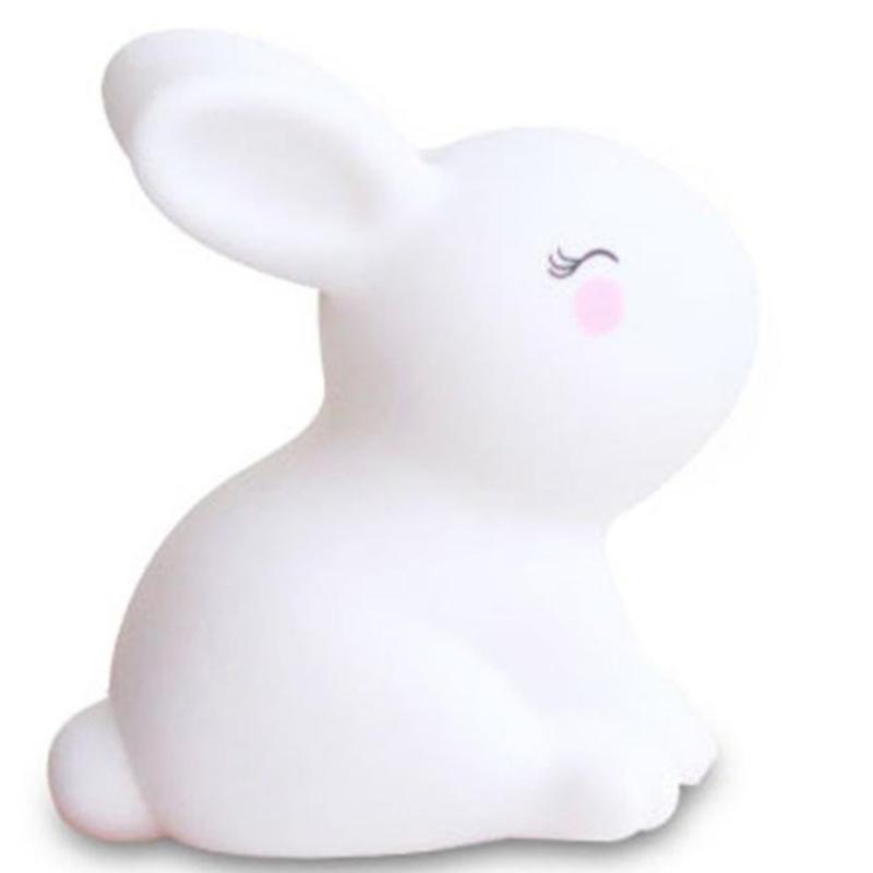 Trzymaj się małej dekoracji zabawek z białego króliczego lampka noc