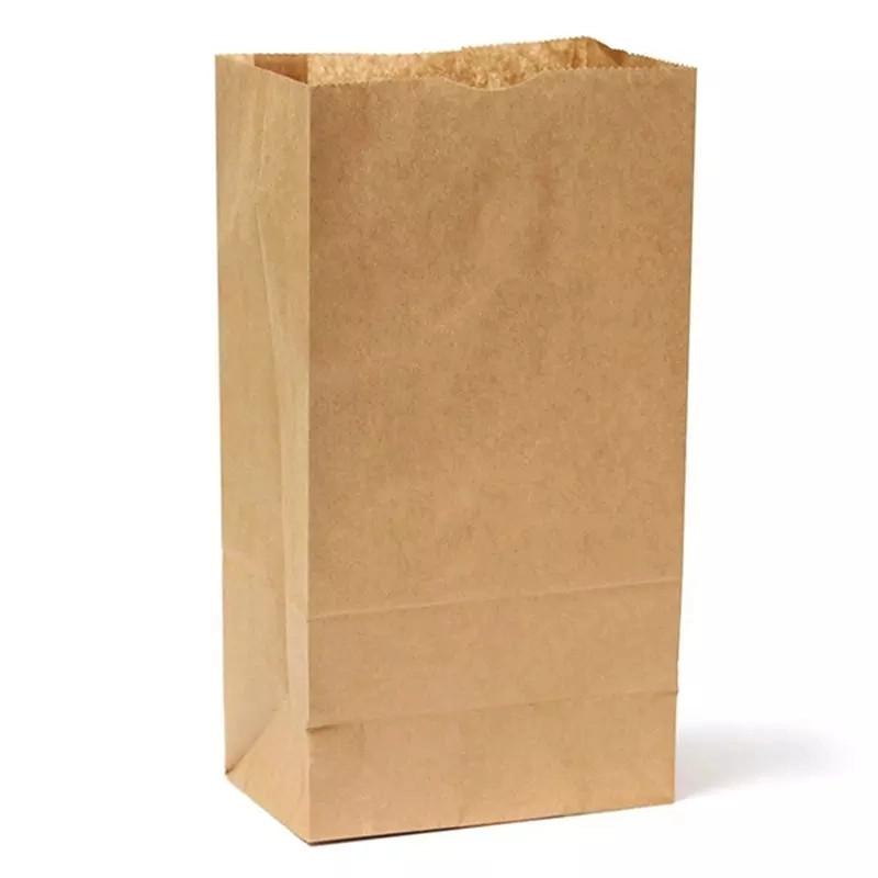 torba papierowa żywność papierowa torba brązowa z recyklingu luksusowe zakupy supermarket torba papierowa