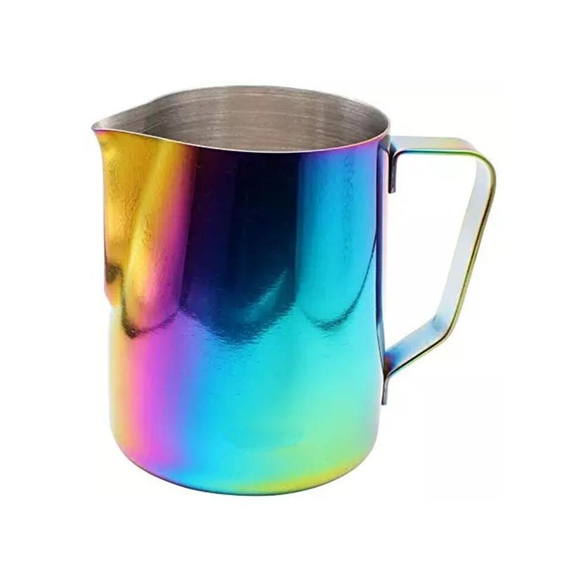 14-pojemnościowy klasyczny dzbanek do spieniania mleka ze stali nierdzewnej do kawy latte