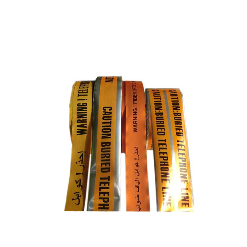 Producent wysokiej jakości na cięcie PVC barykada pod ziemią wykrywalny podziemny kabel ostrzegawczy taśma z folii aluminiowej
