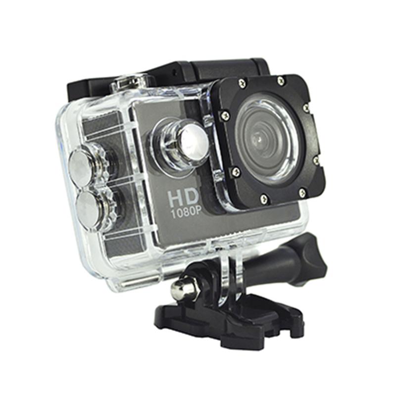 Przenośna kamera sportowa Real HD 720P 140-stopniowy kąt widzenia 2,0-calowy ekran D12A