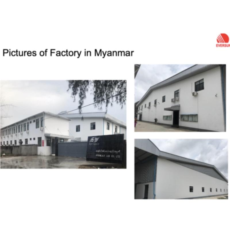W pełni własna fabryka w Myanmarze