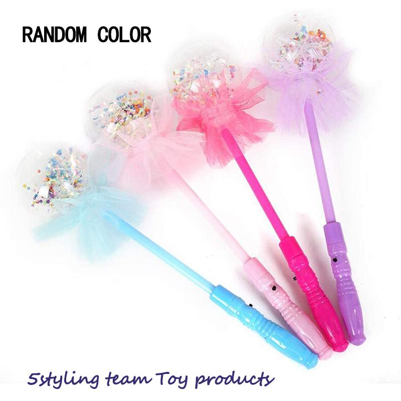 Świecące zabawki, błyszczące magiczne różdżki, hurtowo siedem kolorów różdżki, gwiazdka, gorąca sprzedaż, Bobo ball nocne działania, małe prezenty