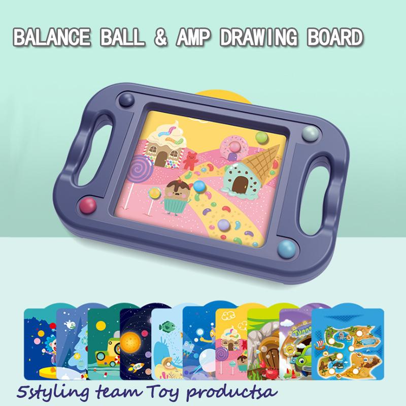 Podwójne przeznaczenie dzieci\\\\\koncentracja zabawka labirynt, chłopak z piłką 45 balans dziewczyna puzzle