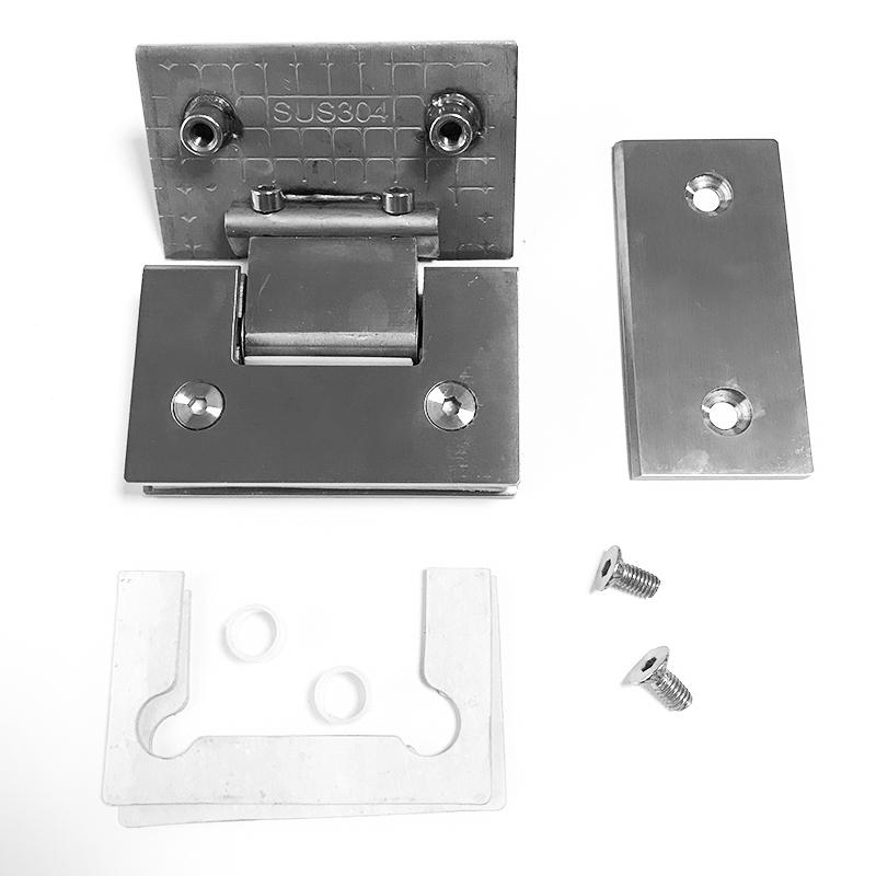 Zacisk łazienkowy Zacisk szklany do łazienki Zawias łazienkowy ze stali nierdzewnej Podwójnie otwarty zacisk do łazienki2